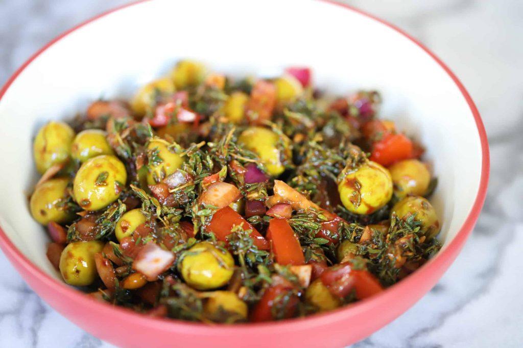 diyet Girit zeytin salatası