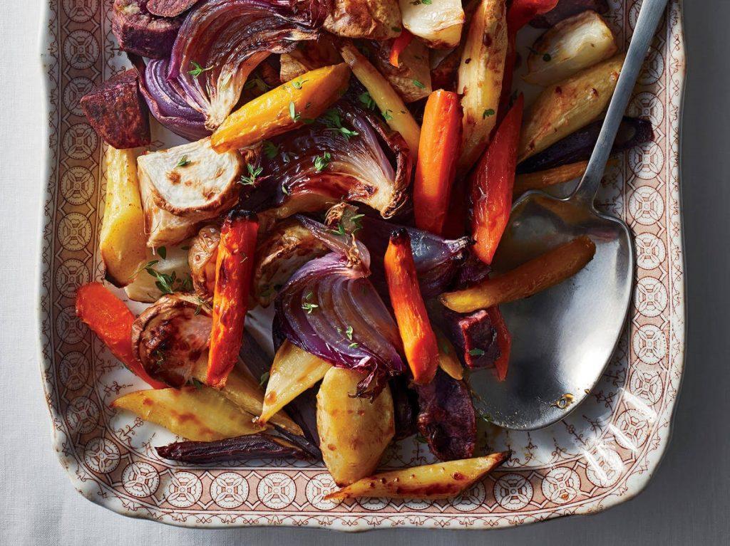 fırında kök sebzeler