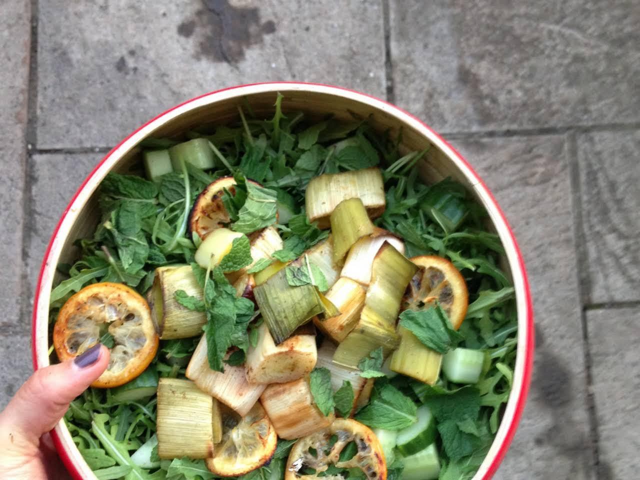 pırasalı ısırgan otu salatası