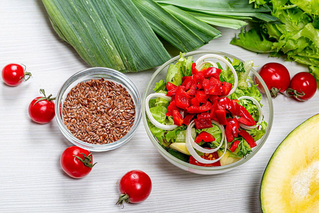 keten tohumlu salata