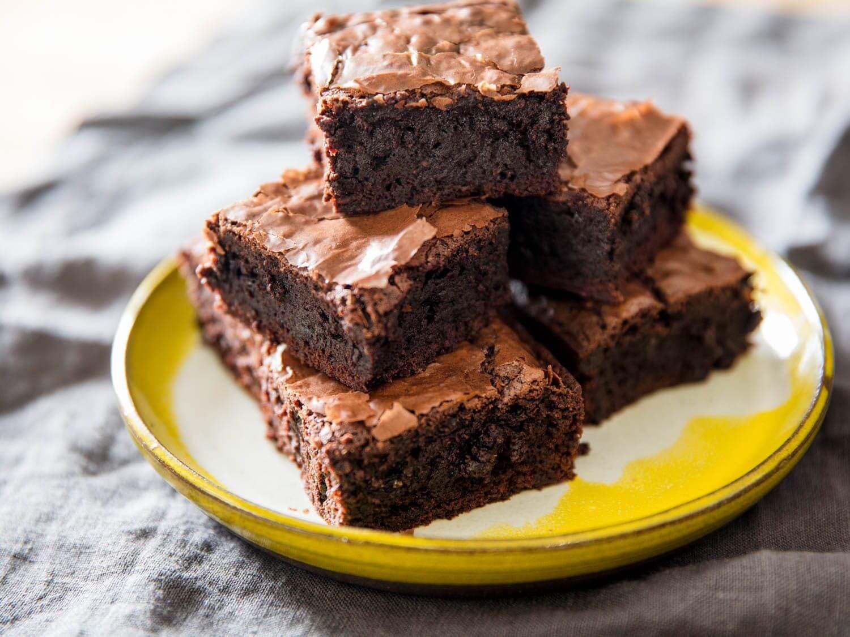bitter çikolatalı fit brownie