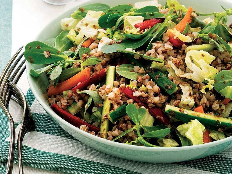 ıspanaklı karabuğday salatası