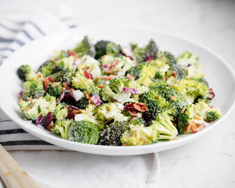 renkli brokoli salatası