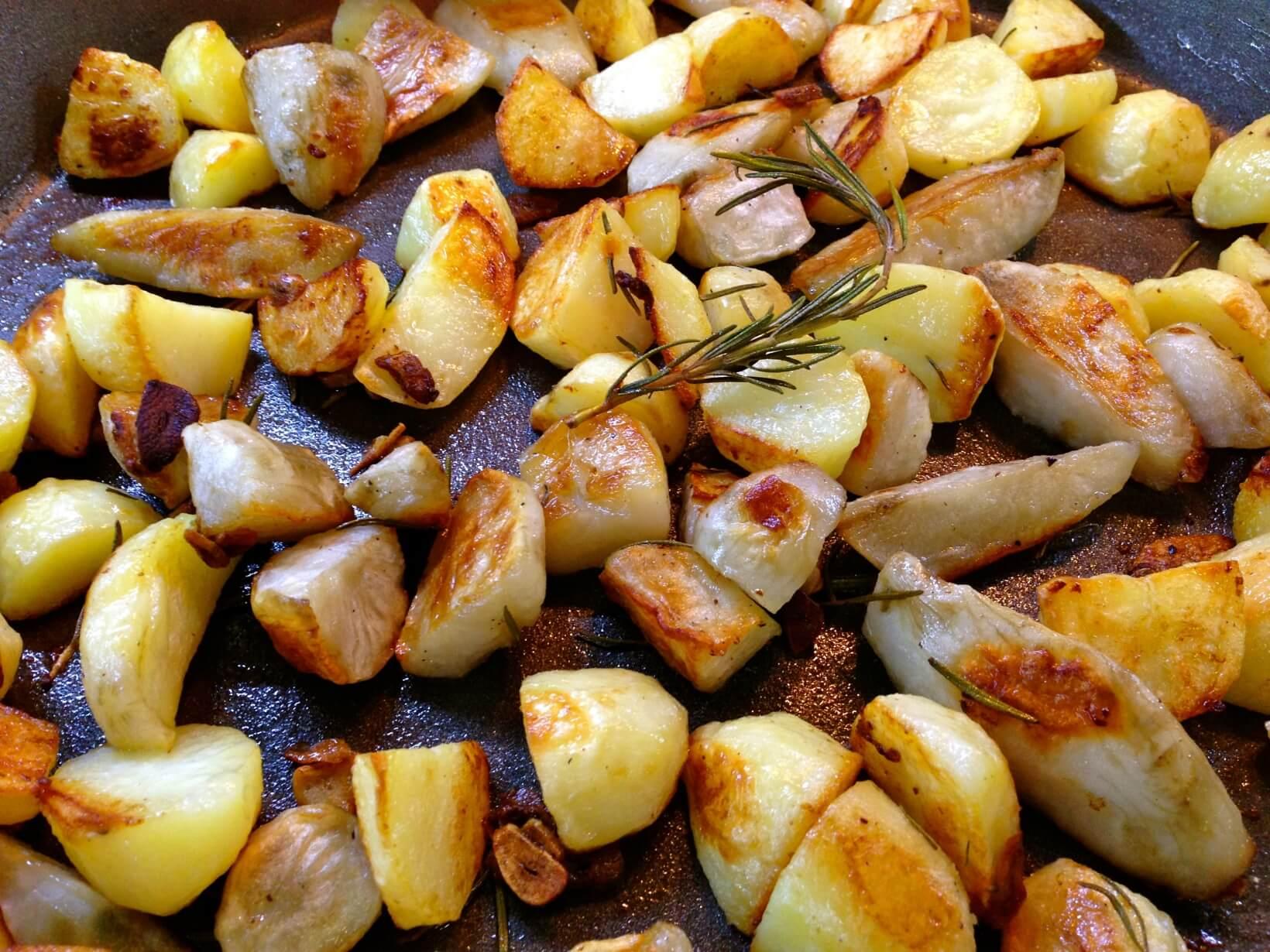 fırında sarımsaklı yer elması